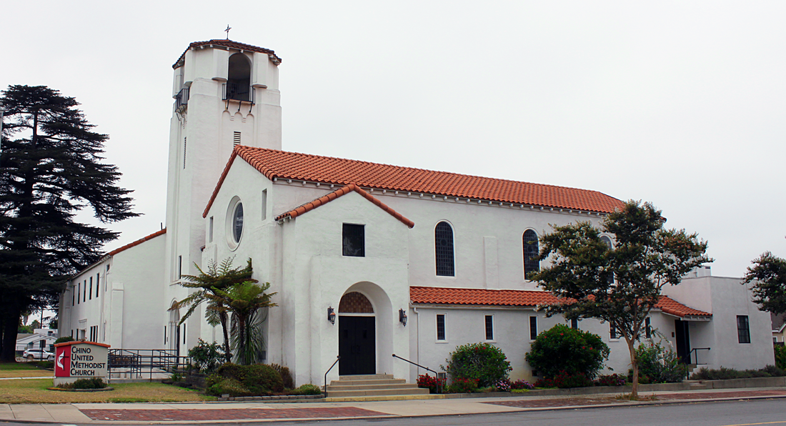 Chino United Methodist Church building outside