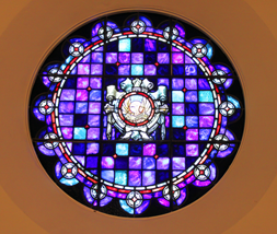 the Rose stained glass window